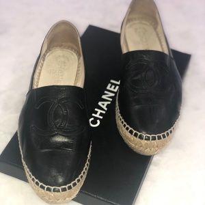 Chanel espadrilles.